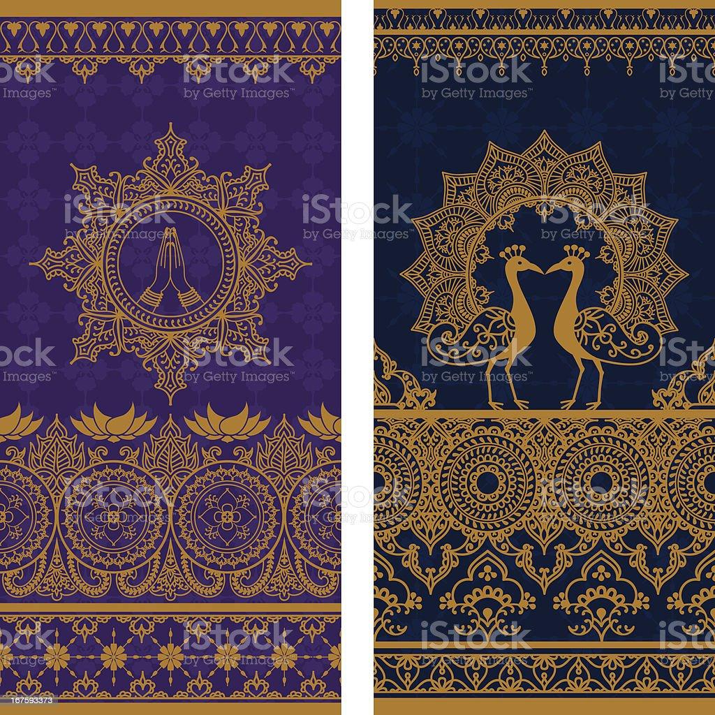 Sari Borders Tall royalty-free stock vector art