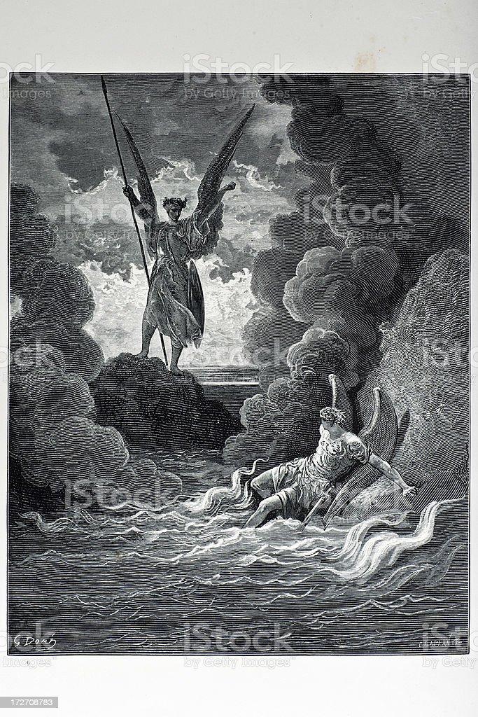 Satan and Beelzebub royalty-free stock vector art