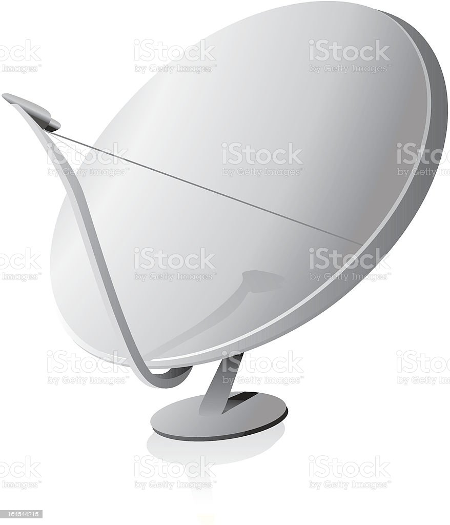 Satellite dish royalty-free stock vector art