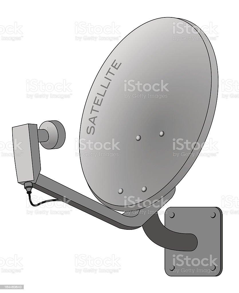 Satellite dish illustration isolated on white vector art illustration