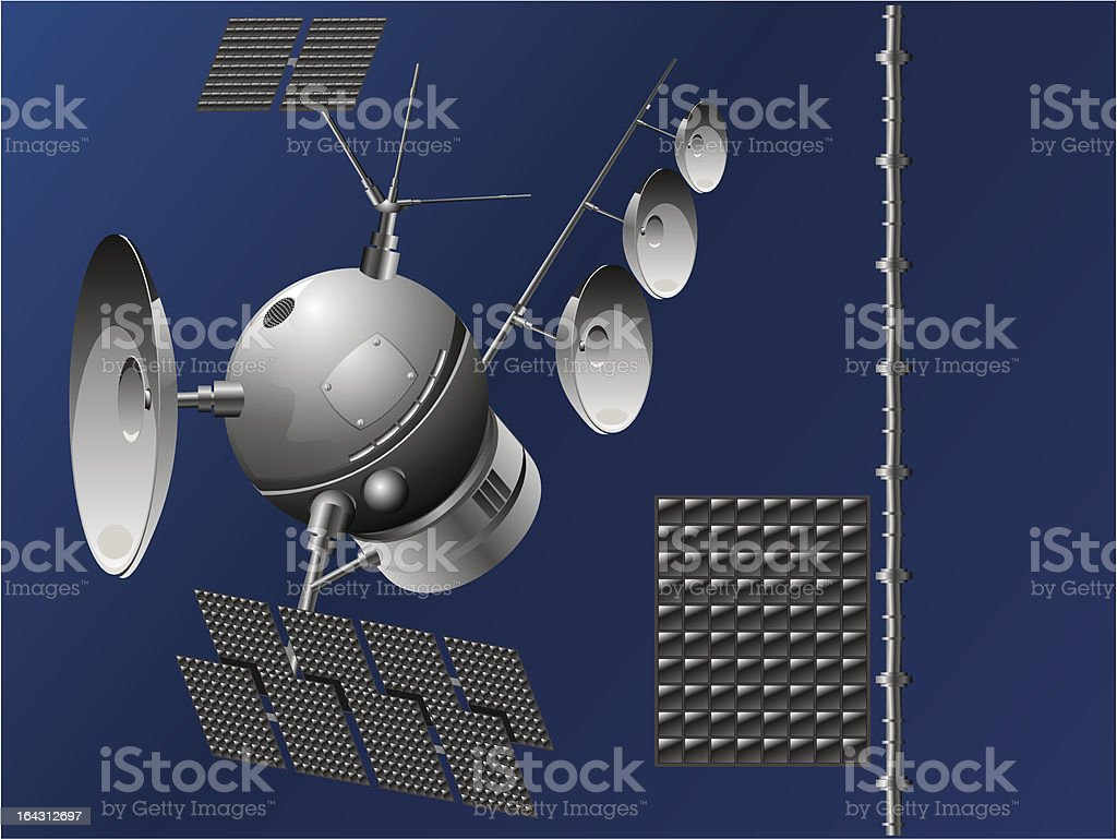 satellite vector art illustration