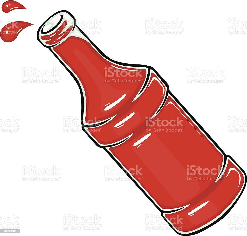 sauce bottle royalty-free stock vector art