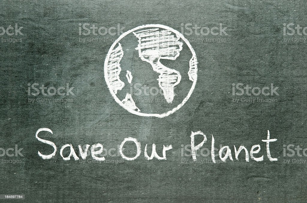 Save Our Planet royalty-free stock vector art