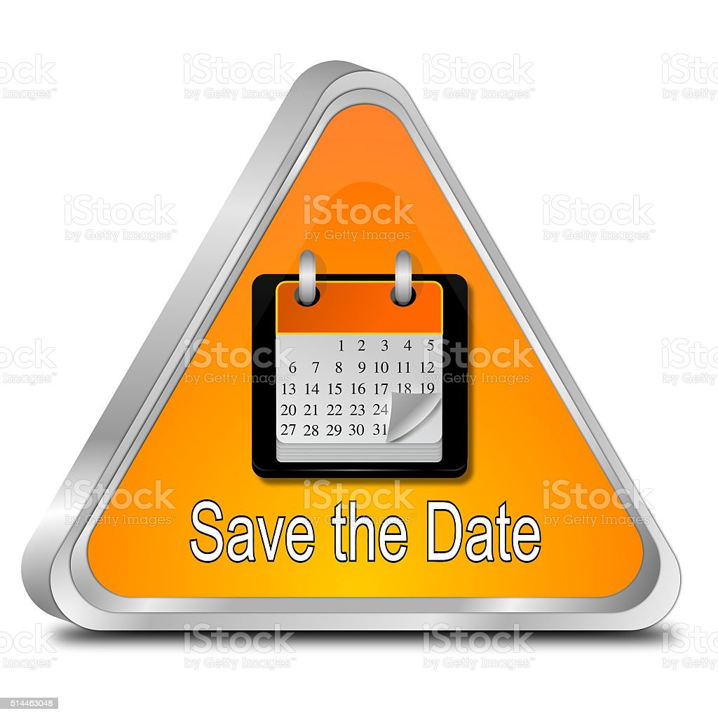 Save the Date Button vector art illustration