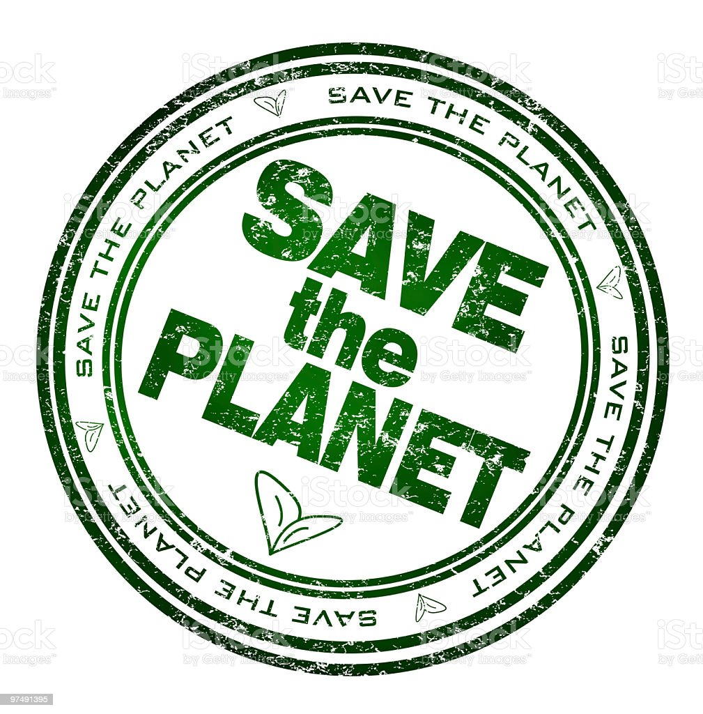 Save the planet Stamp royalty-free stock vector art