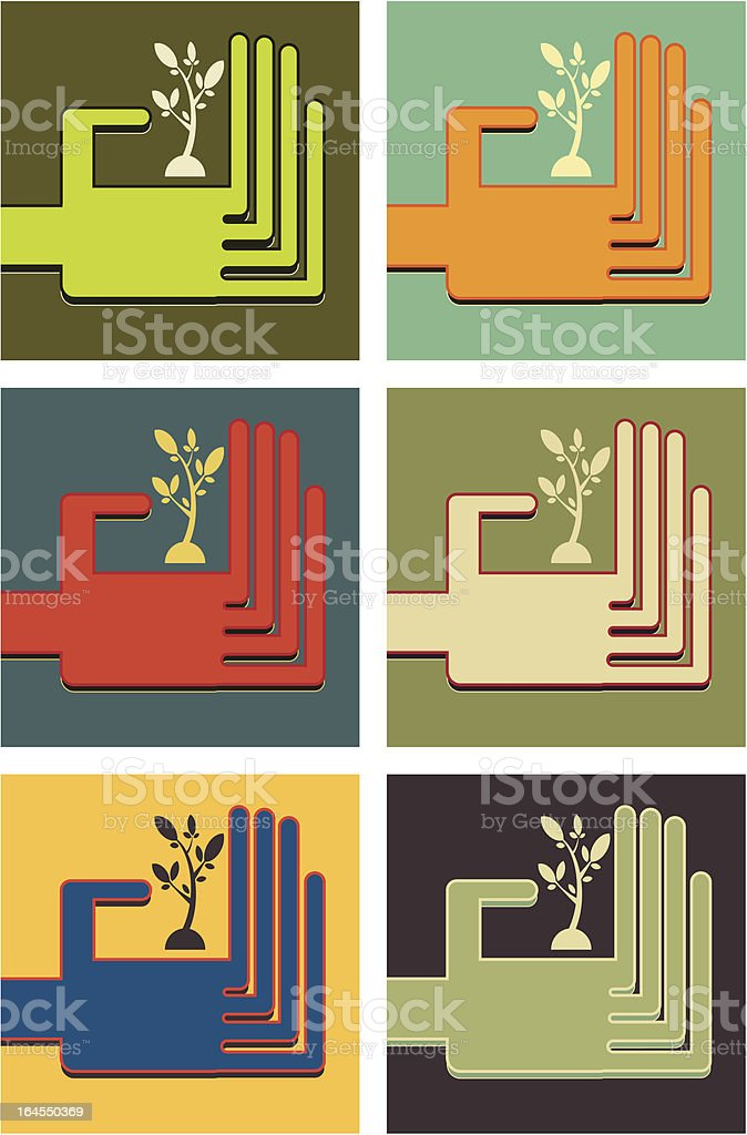 Save Tree royalty-free stock vector art