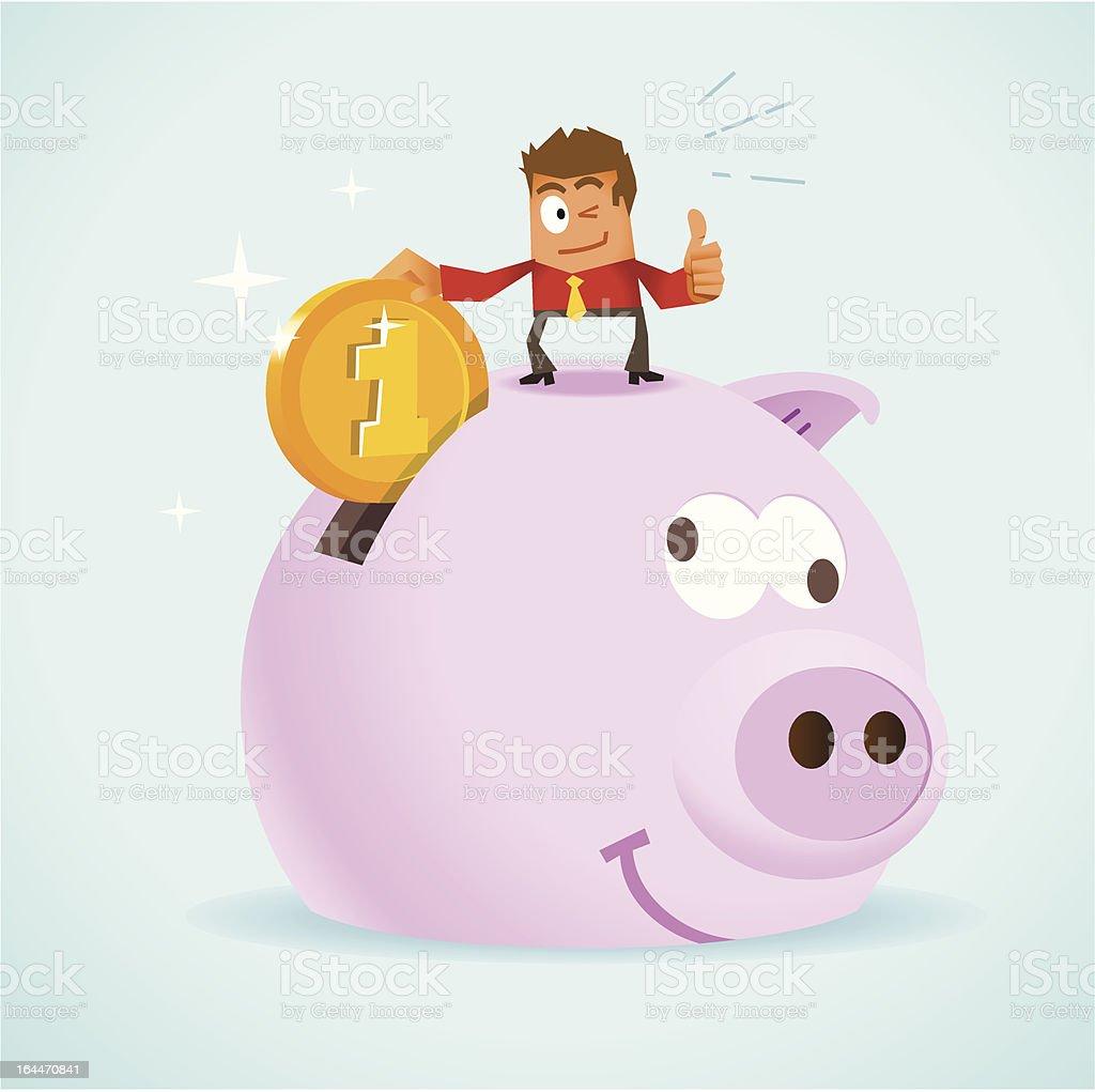 Saving Money for Future royalty-free stock vector art