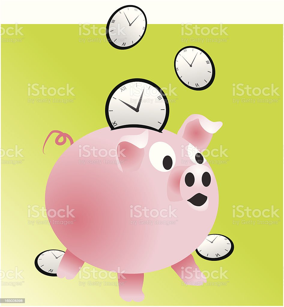 saving time royalty-free stock vector art