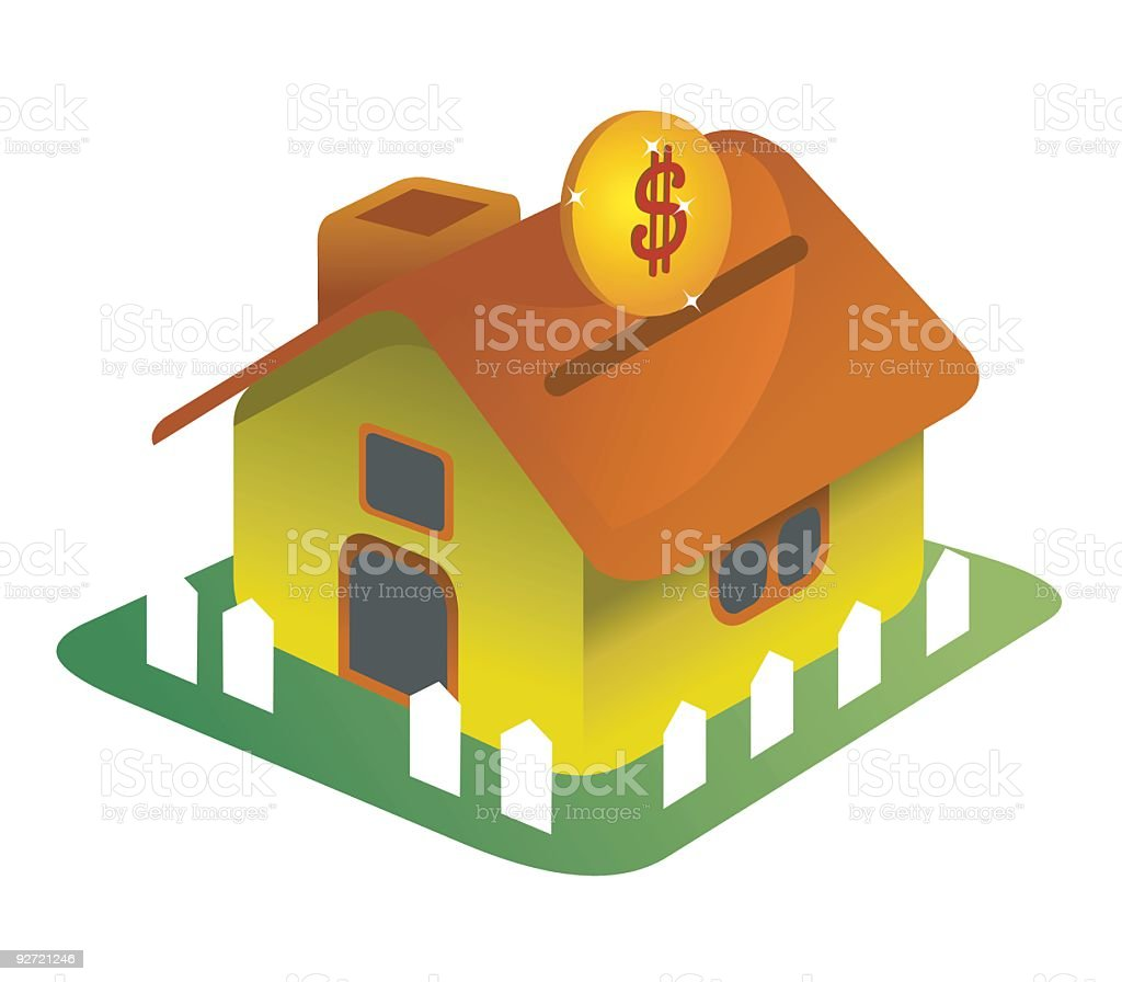 Savings for a sweet home ... royalty-free stock vector art