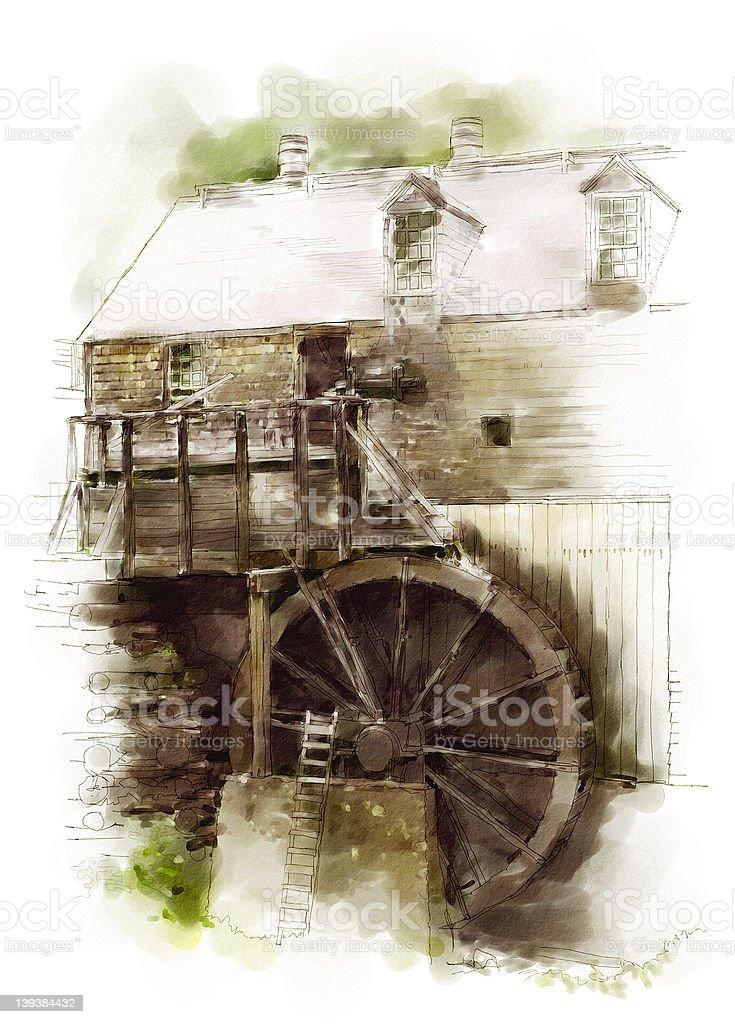Sawmill royalty-free stock vector art