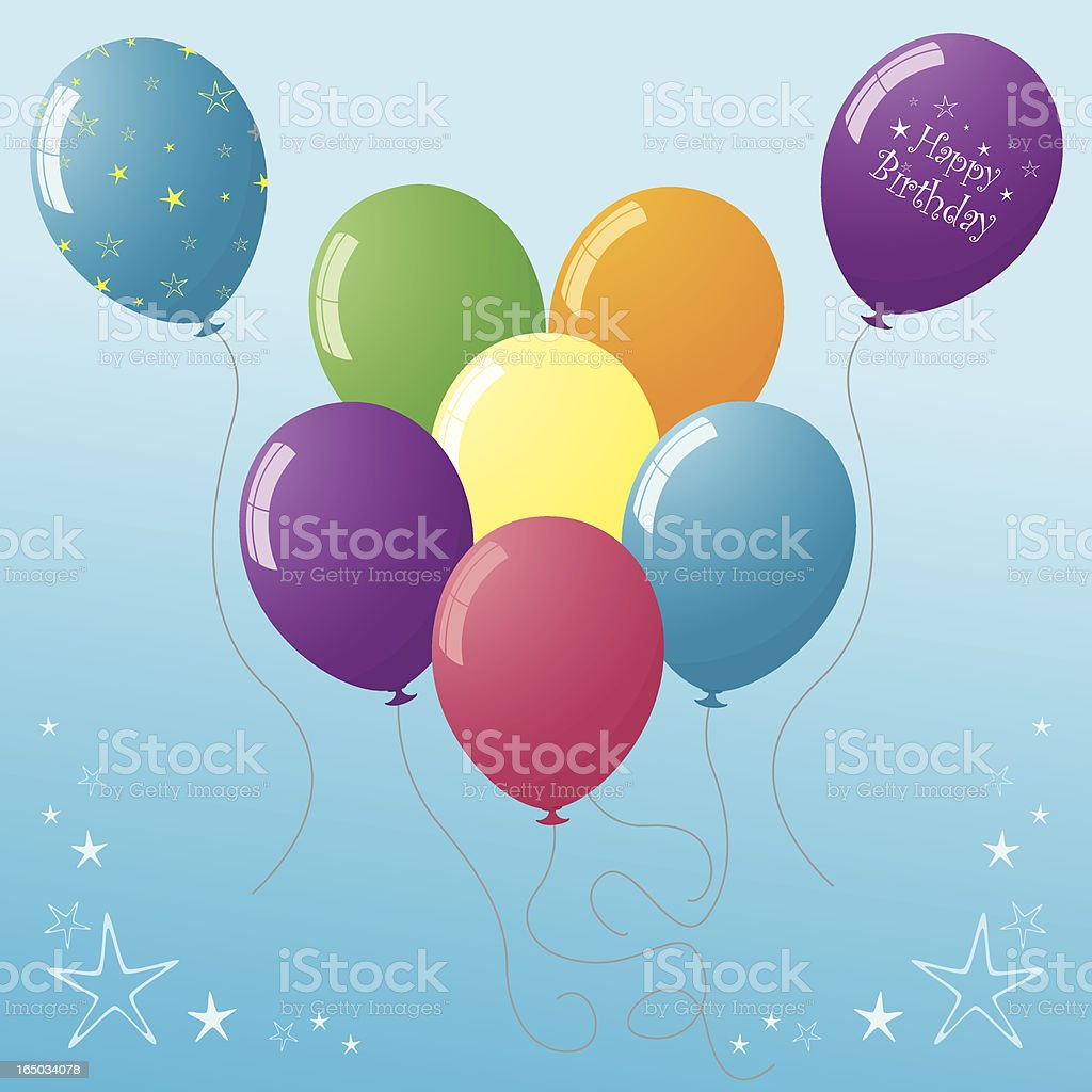 Say it with Balloons - incl. jpeg royalty-free stock vector art