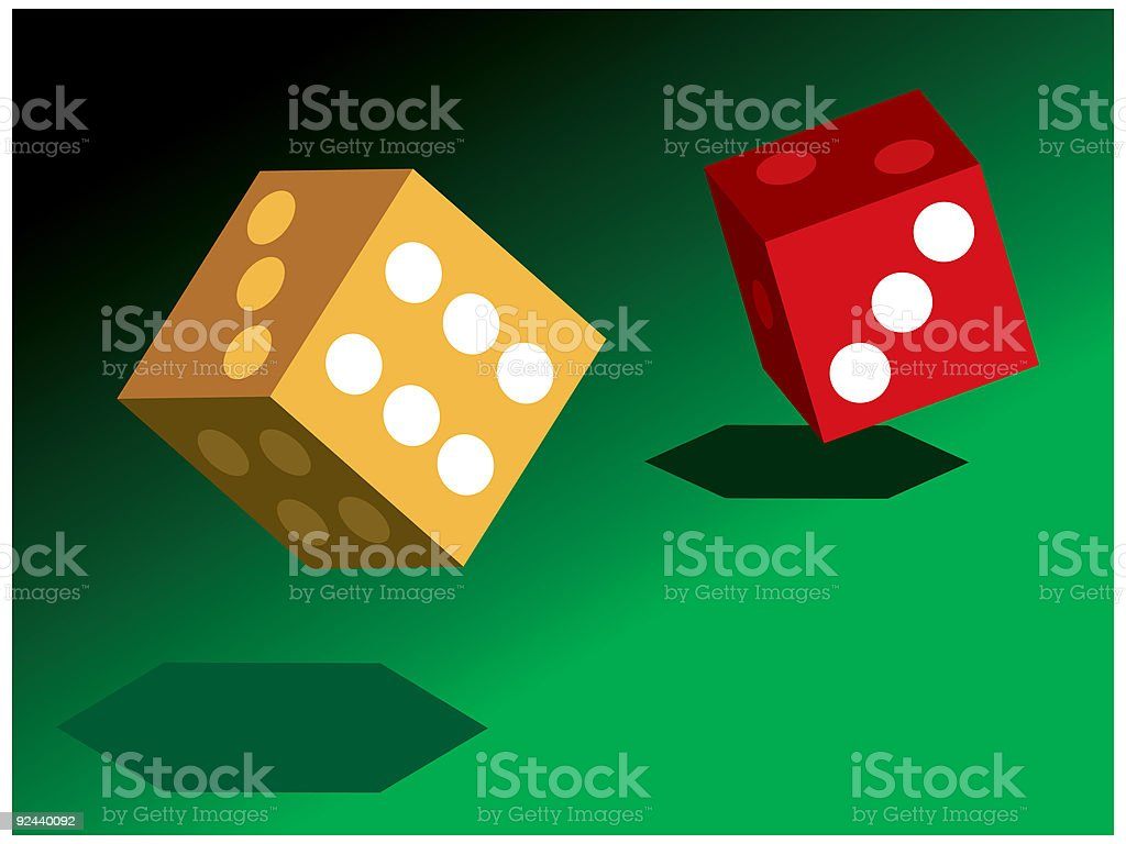 Dice royalty-free stock vector art