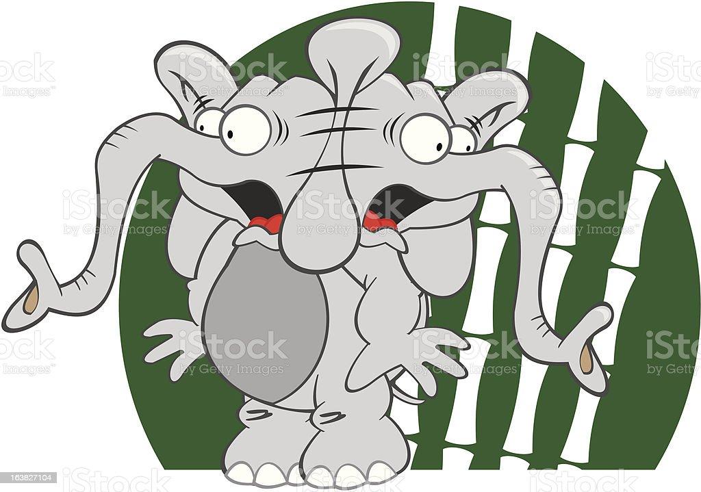 Scared Elephant royalty-free stock vector art