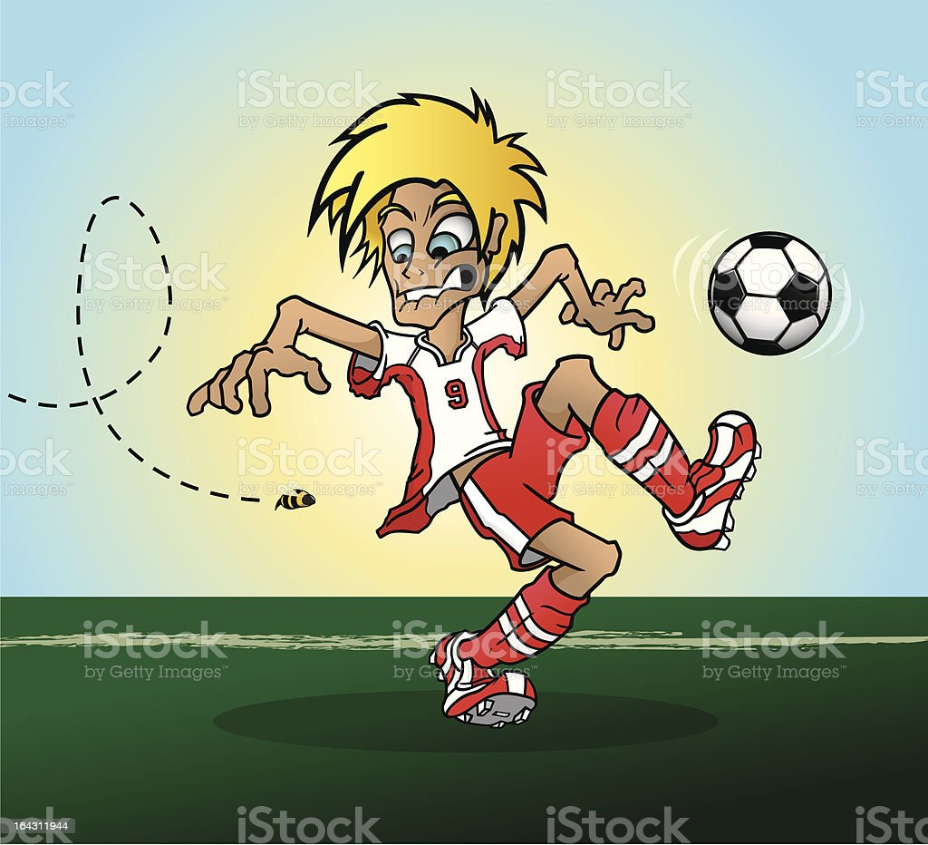 Scared Soccer Player royalty-free stock vector art