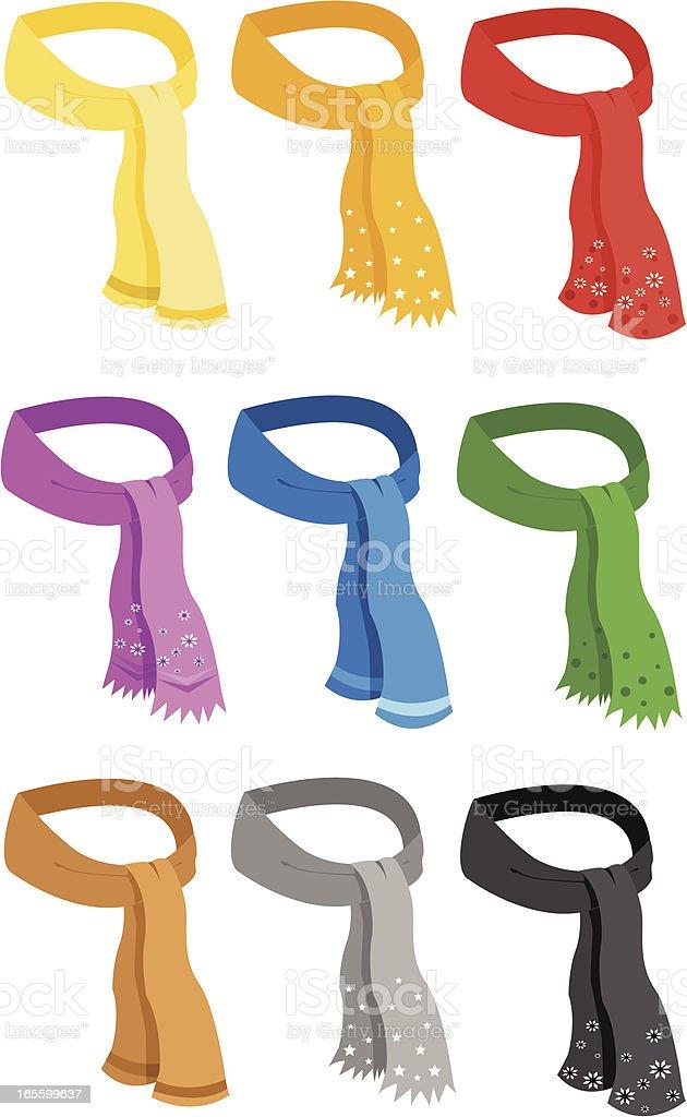 scarf vector art illustration