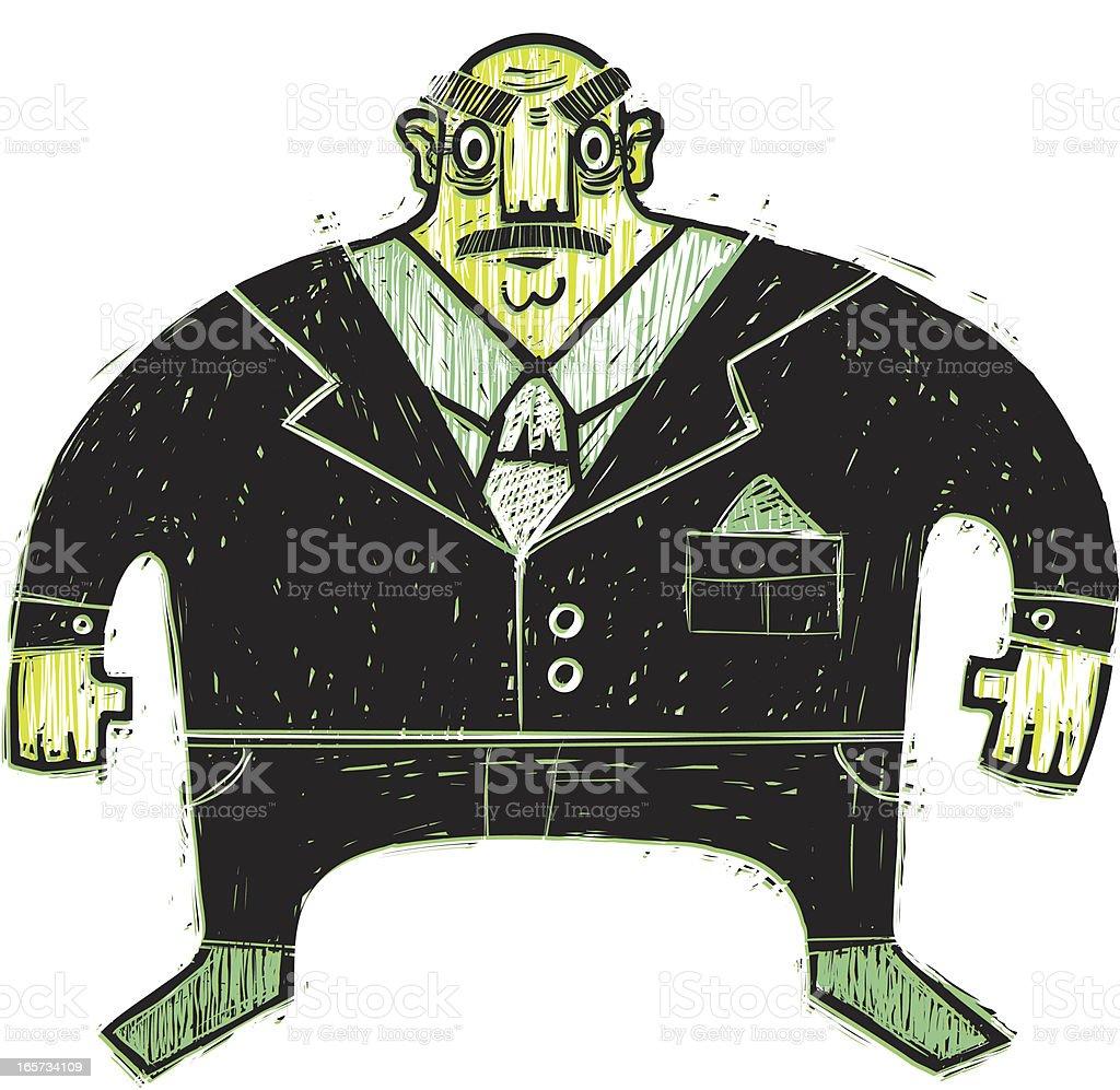 Scary Boss royalty-free stock vector art