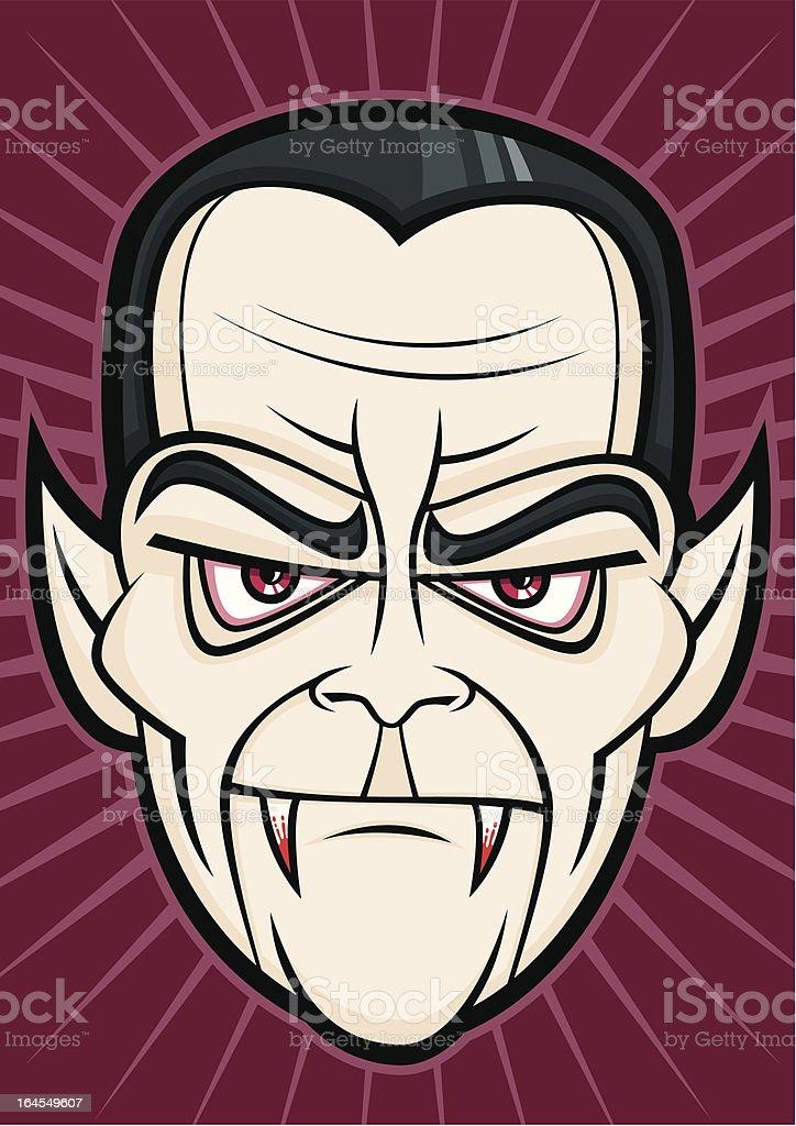 Scary Dracula Halloween Head Monster Face royalty-free stock vector art