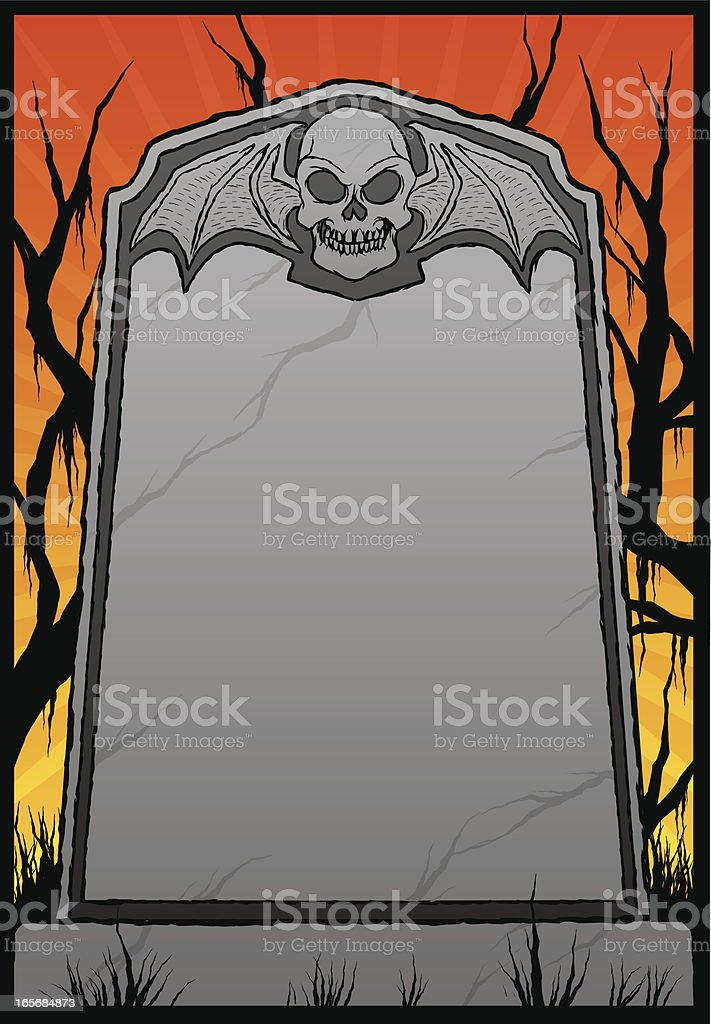 scary grave royalty-free stock vector art