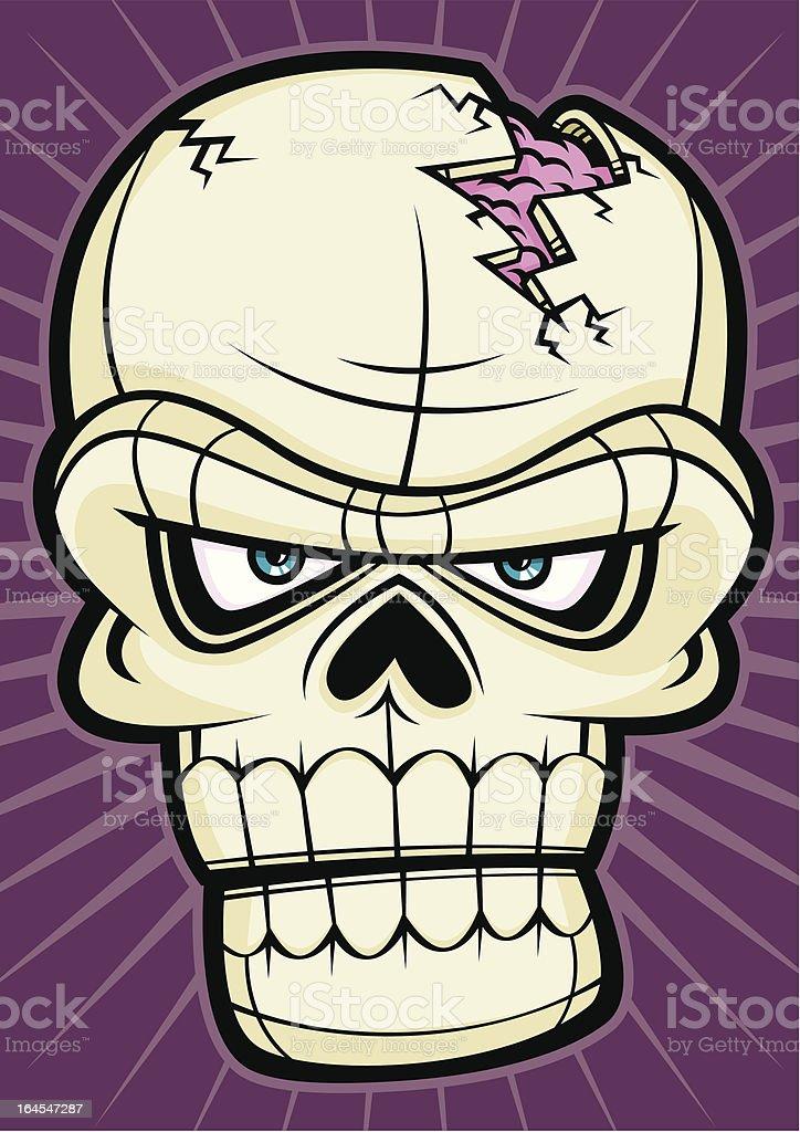 Scary Skull Halloween Head Monster Face royalty-free stock vector art