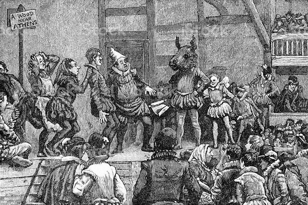 Scene from a Shakespeare Play vector art illustration