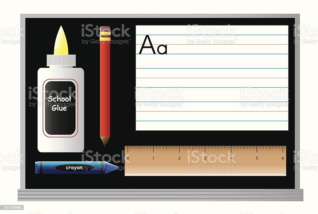 School Daze: Primary Class Supplies royalty-free stock vector art