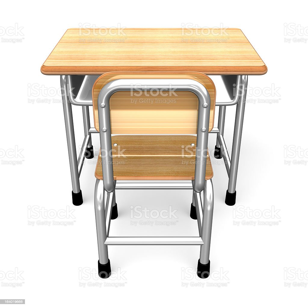 School Desk Back View royalty-free stock vector art
