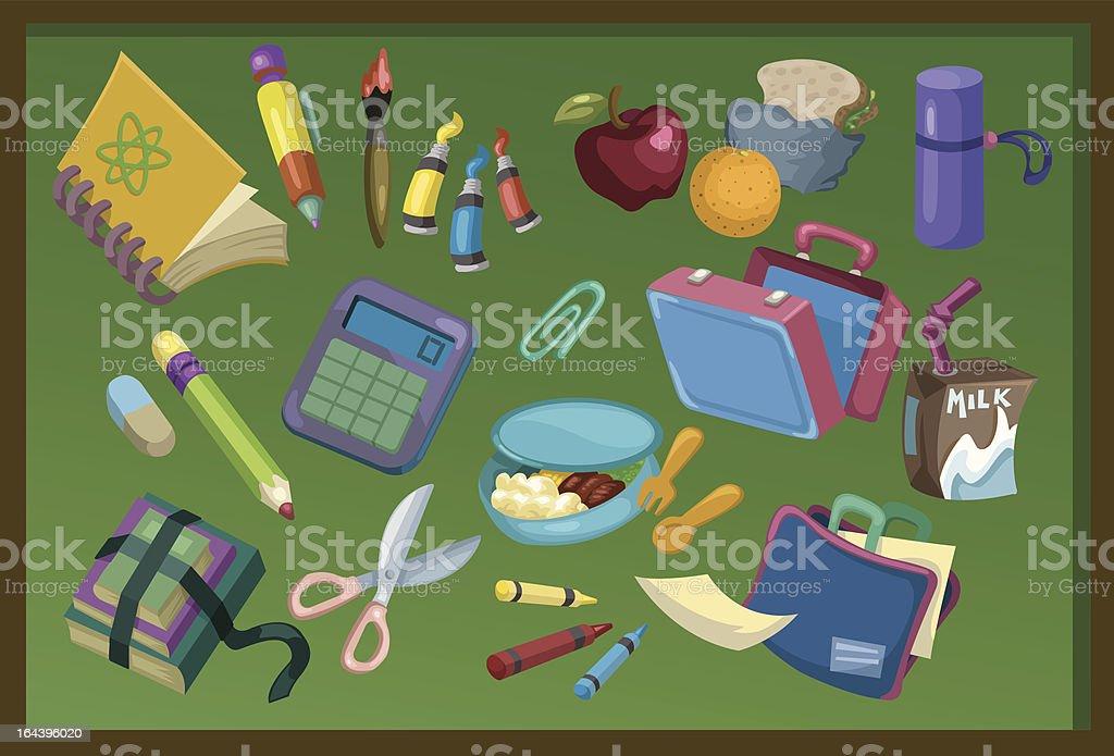 School Elements vector art illustration