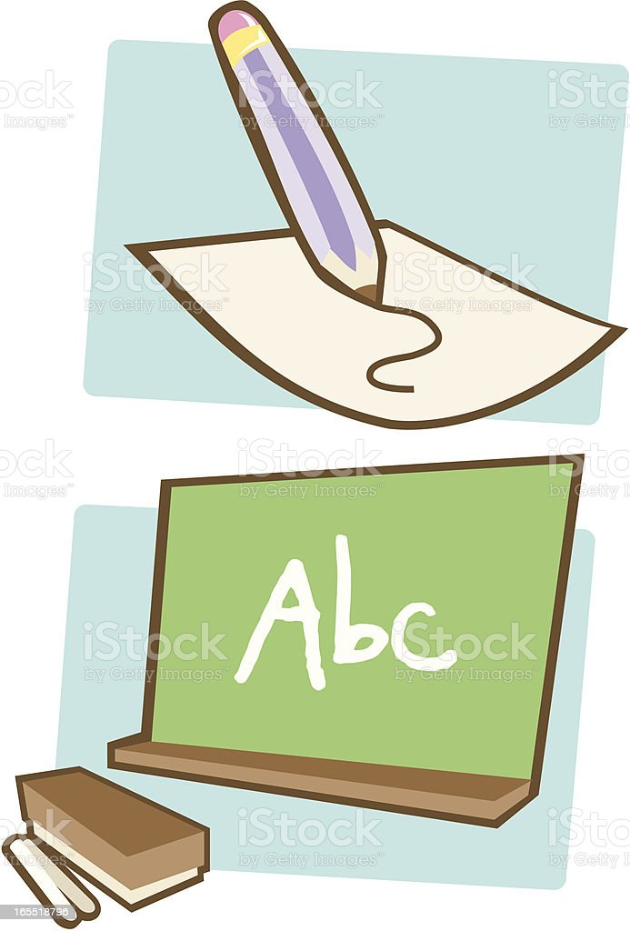 School Elements - In the class royalty-free stock vector art