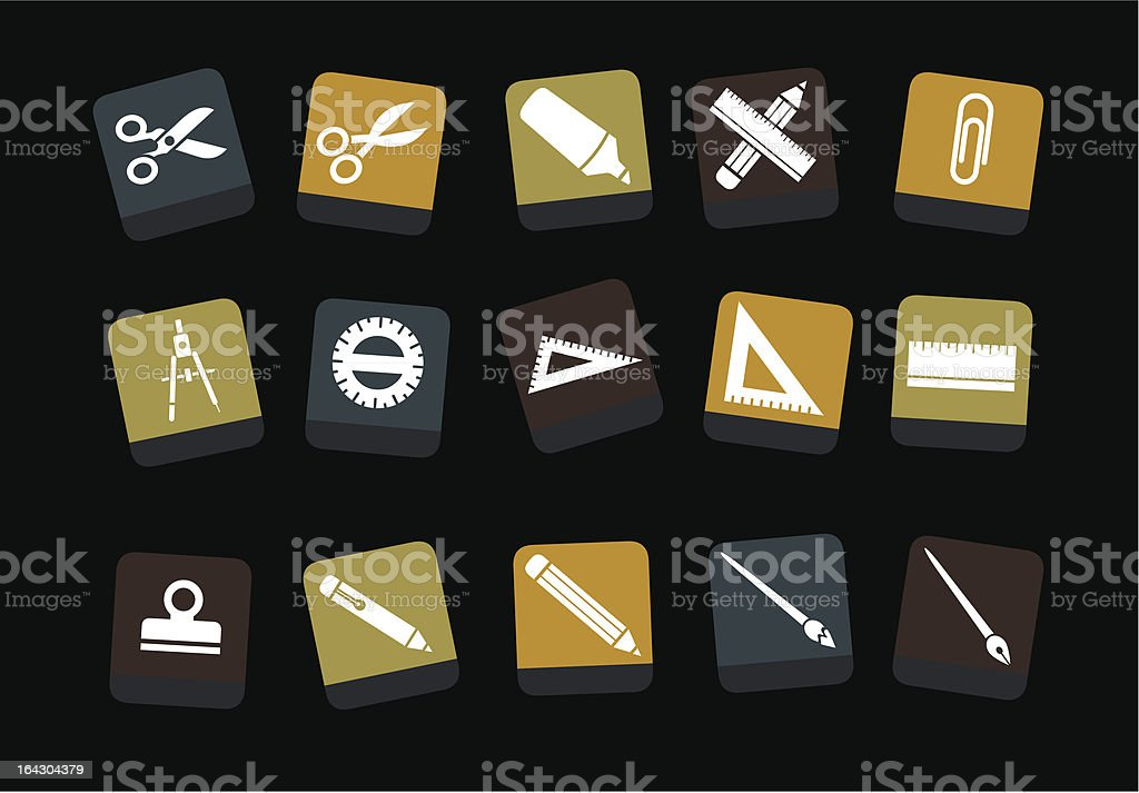 School icon set royalty-free stock vector art