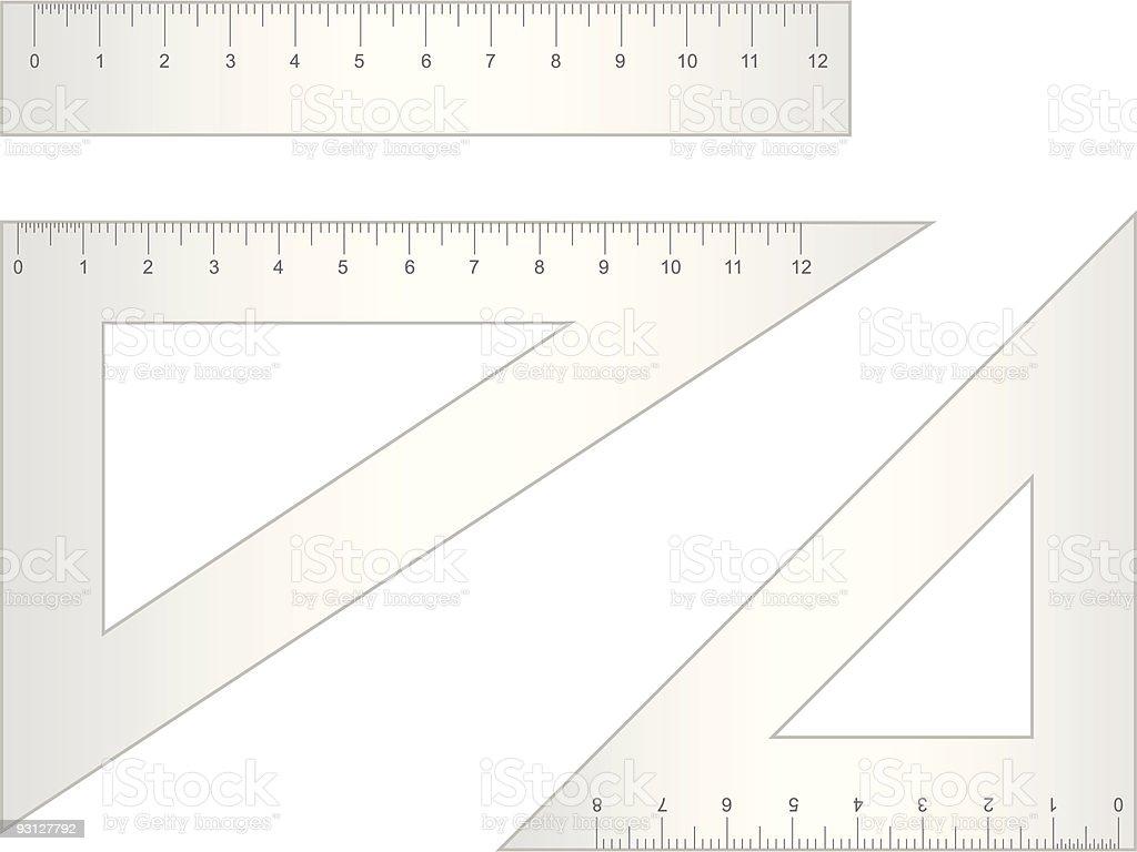 School Rulers vector art illustration