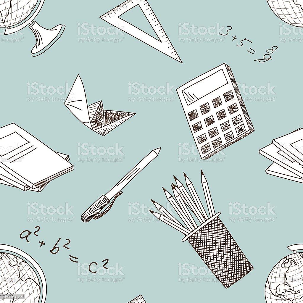 school seamless royalty-free stock vector art
