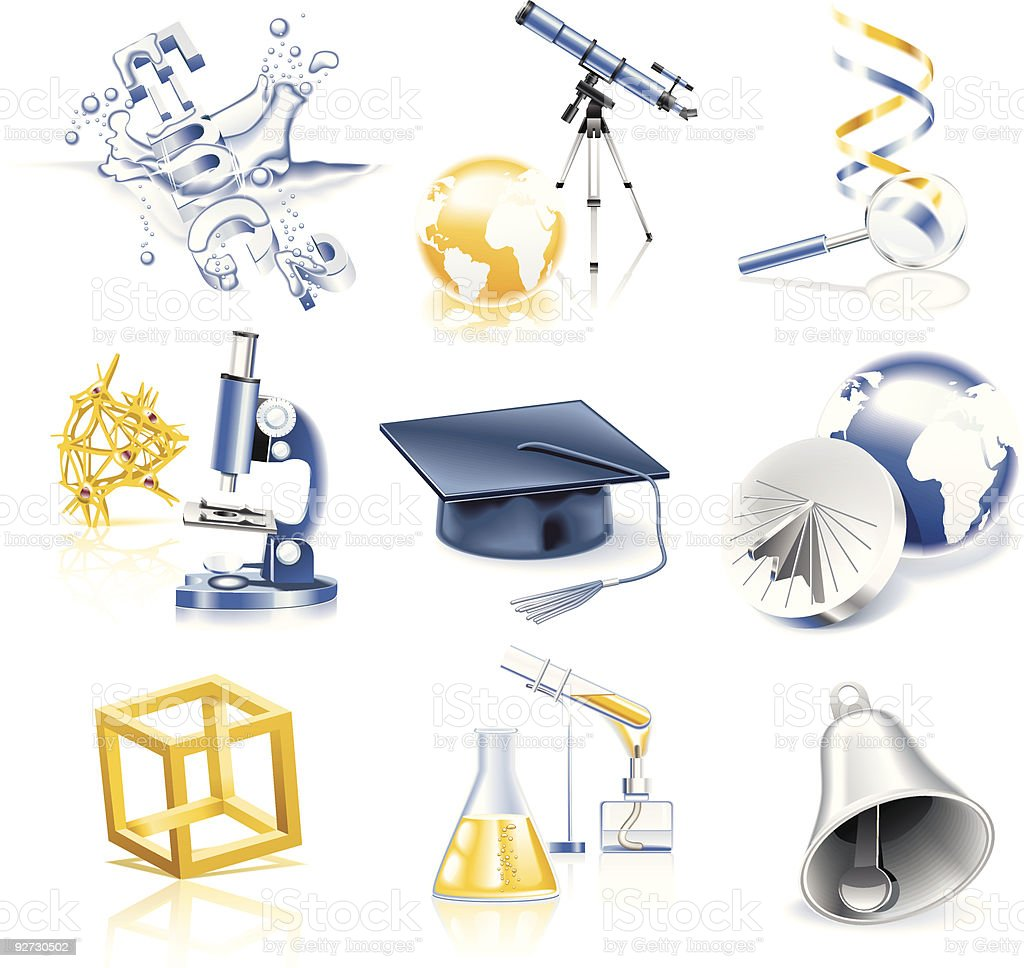 Science and education icon set royalty-free stock vector art