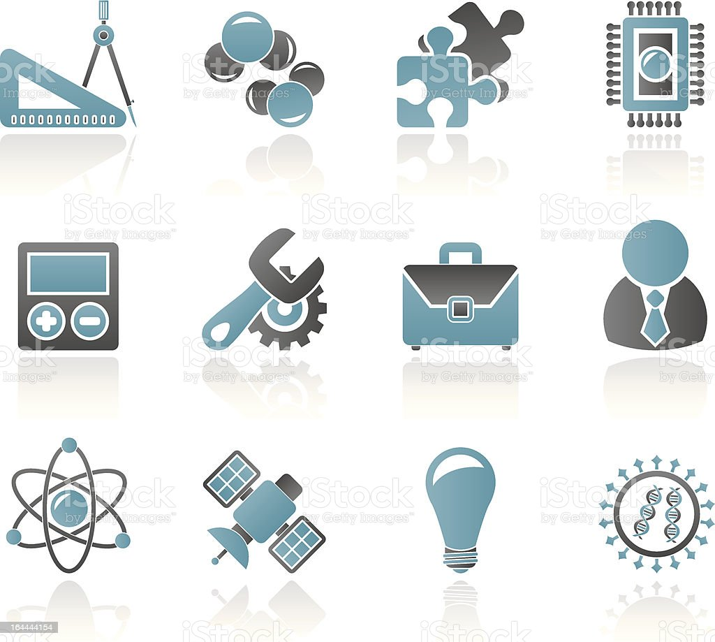 Science and Research Icons royalty-free stock vector art
