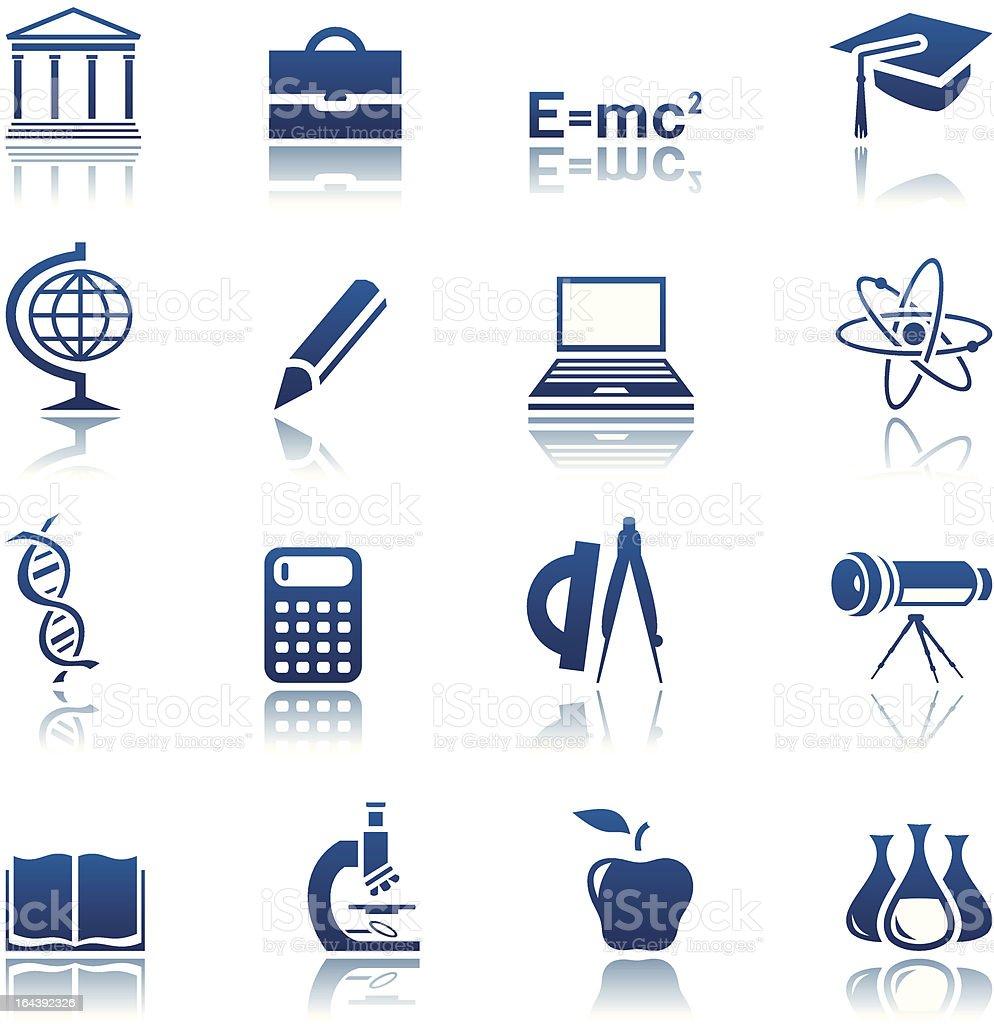 & Ensemble d'icônes de sciences de l'éducation stock vecteur libres de droits libre de droits