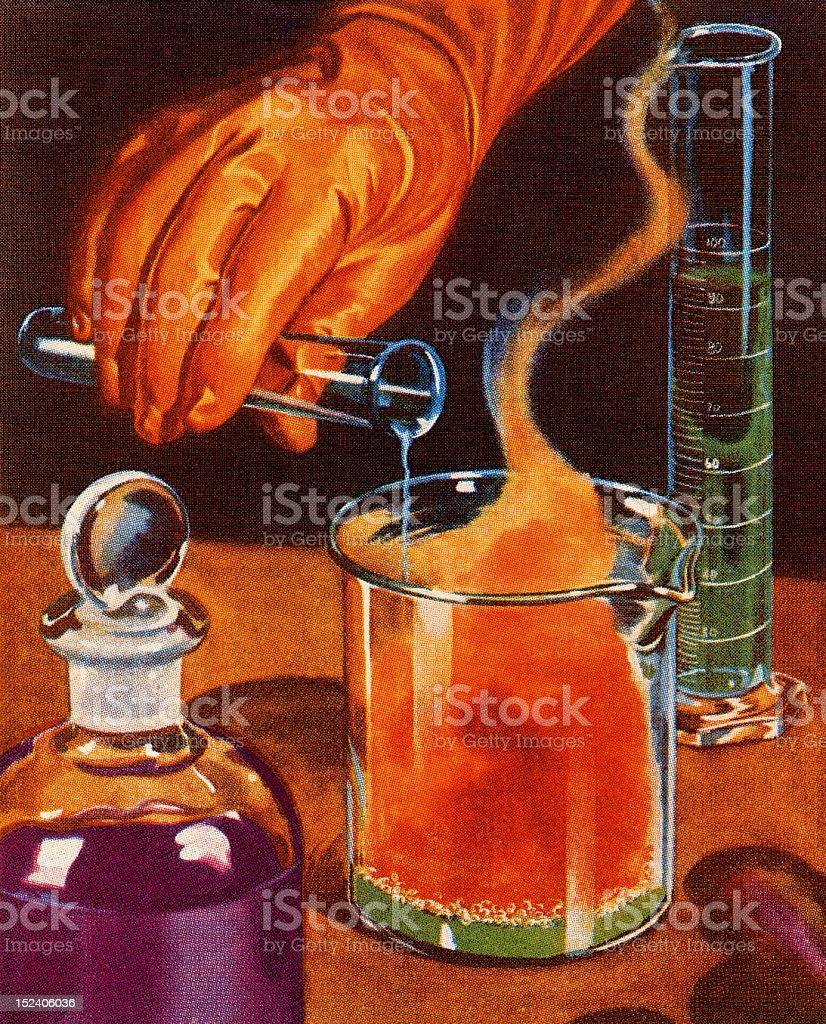 Science Experiment royalty-free stock vector art