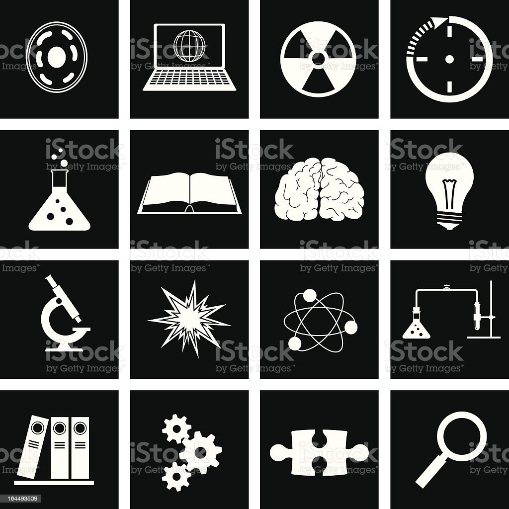 science icon royalty-free stock vector art