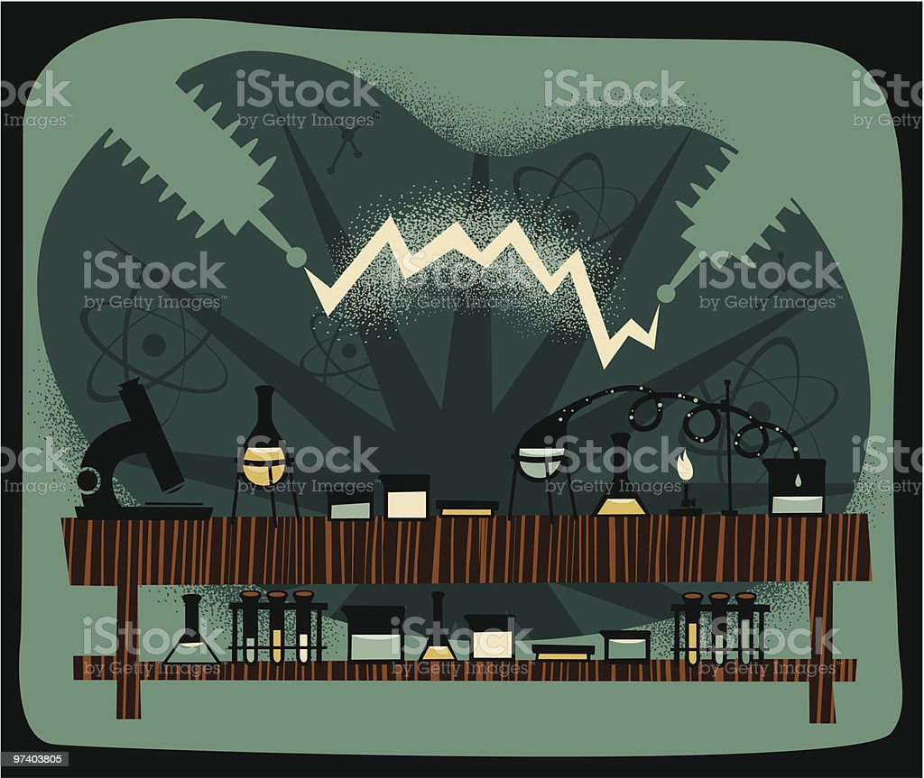 Science Lab royalty-free stock vector art
