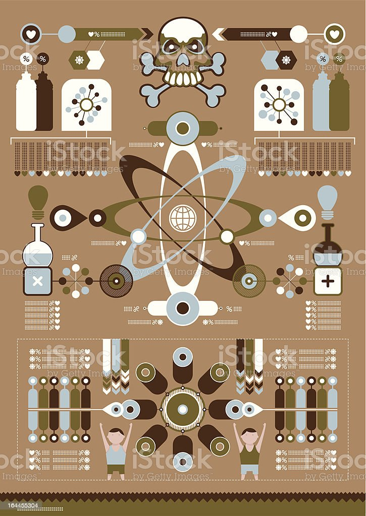 Science vector infographics royalty-free stock vector art