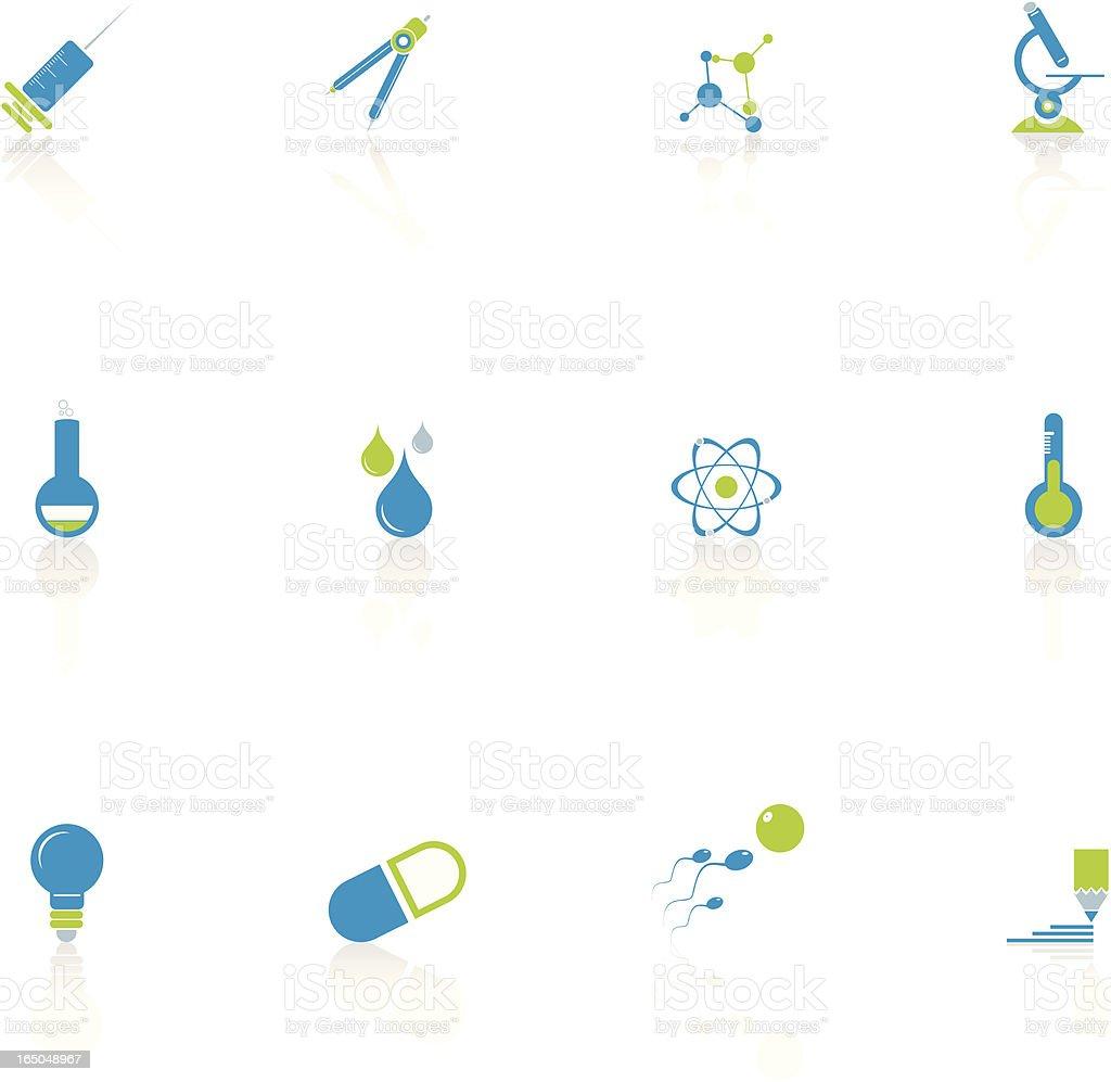 Sciences Icon Set royalty-free stock vector art