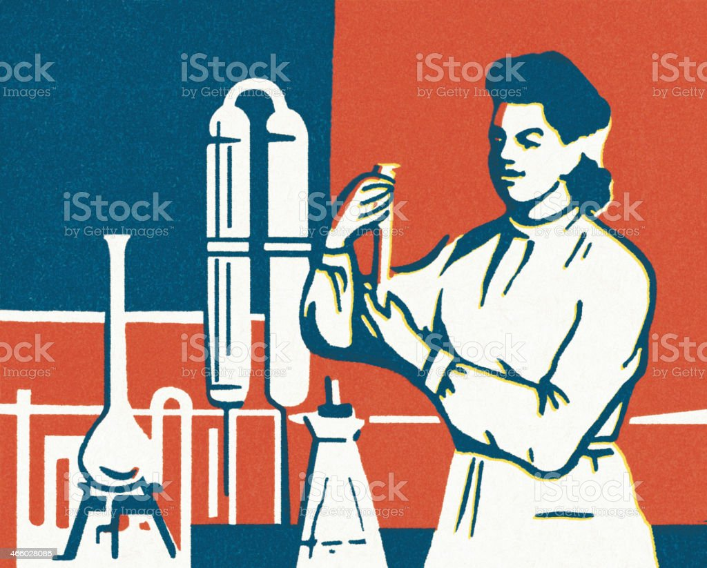 Scientist in a Laboratory vector art illustration