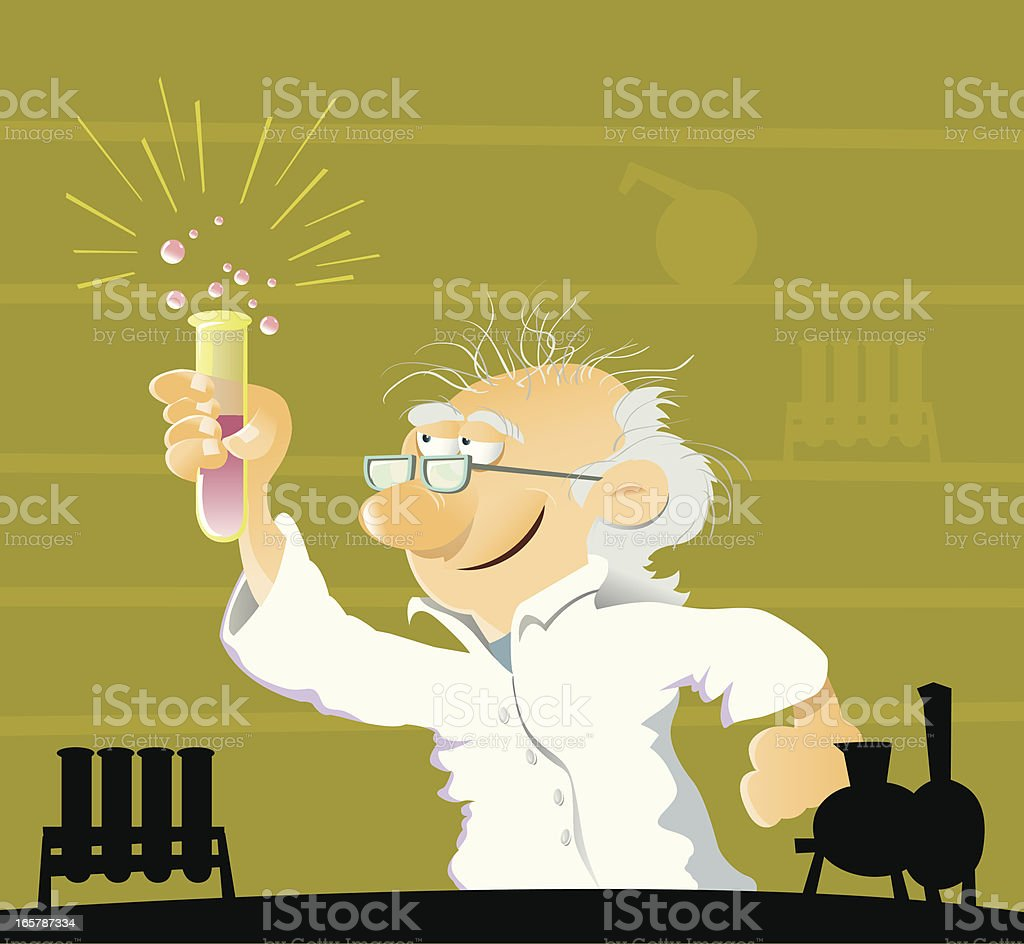 Scientist new discovery vector art illustration