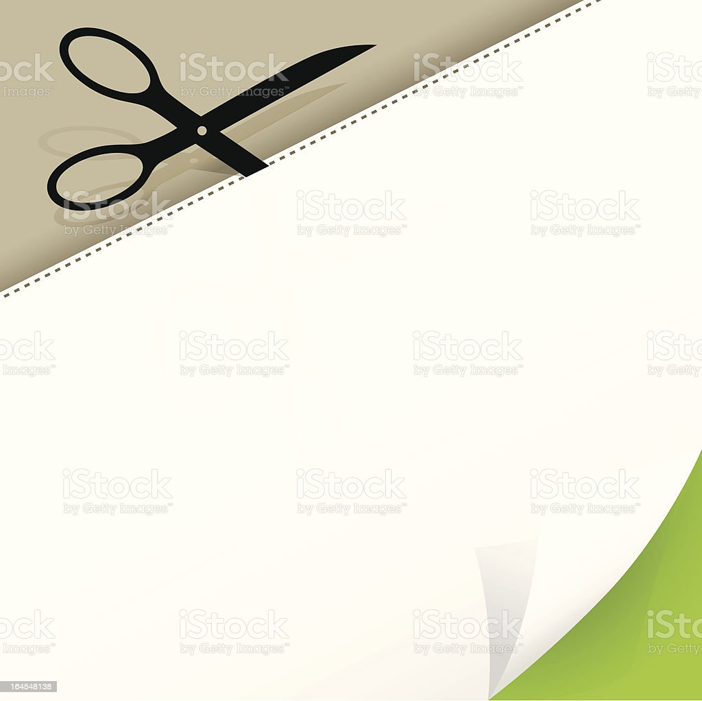 Scissors and Paper royalty-free stock vector art