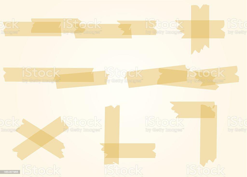 scotch tape vector art illustration