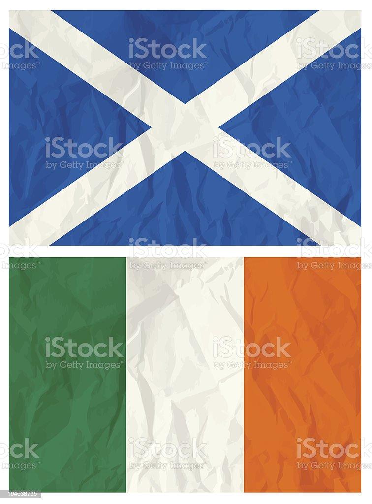 Scotland and Ireland flag royalty-free stock vector art
