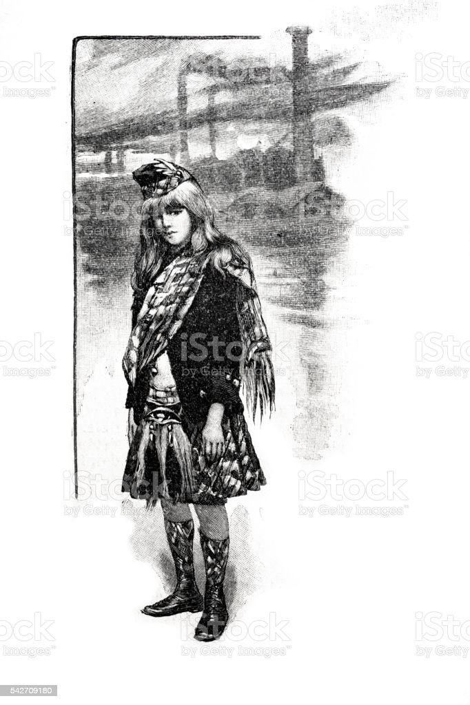 Scottish Jack fictional character  literary magazine Le Voleur Illustre vector art illustration