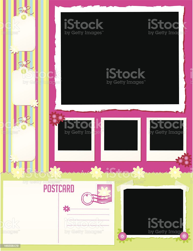 Scrapbook Page vector art illustration
