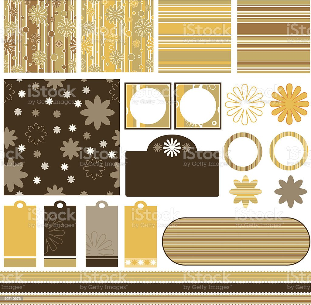 Scrapbook page vector art illustration