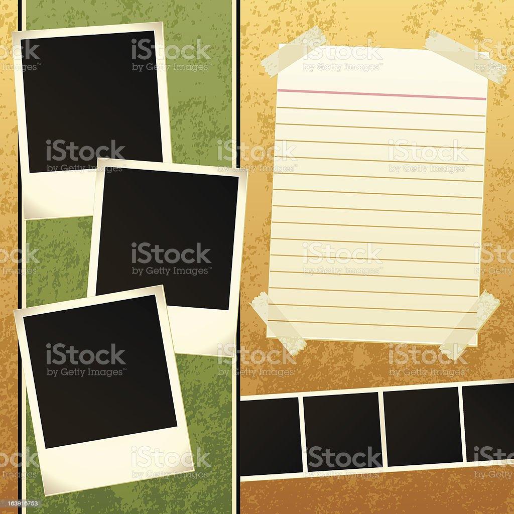 Scrapbook Template vector art illustration