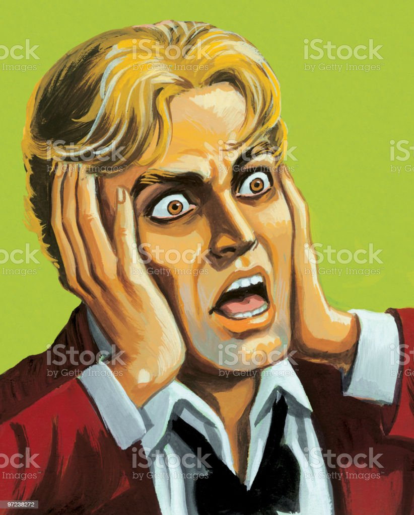 Screaming Man royalty-free stock vector art