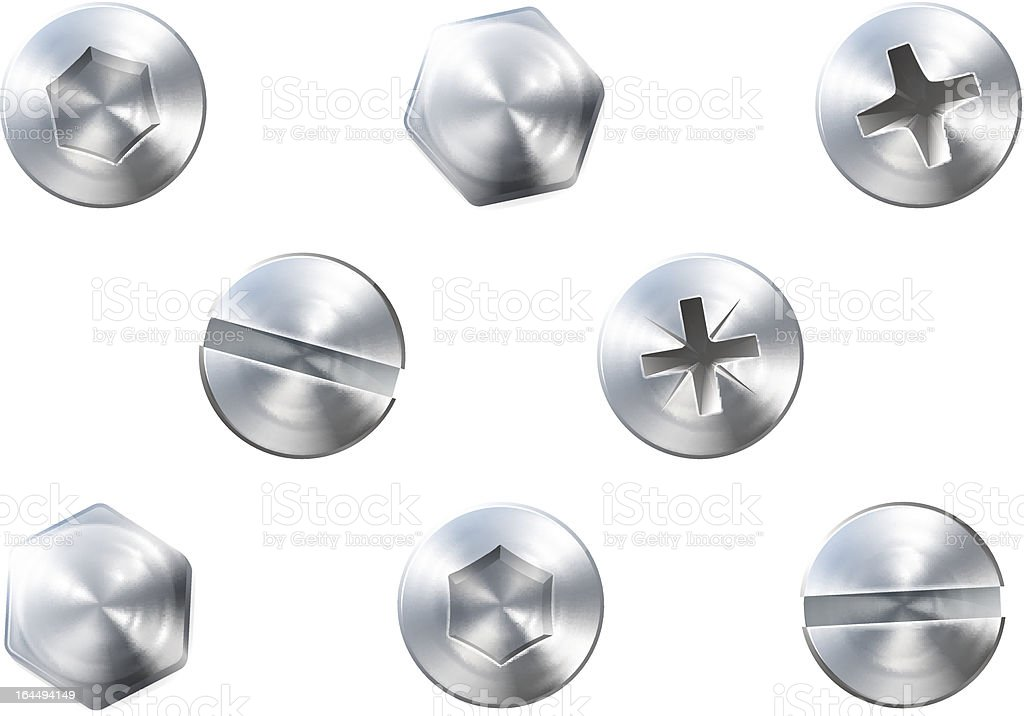 Screws and bolts royalty-free stock vector art